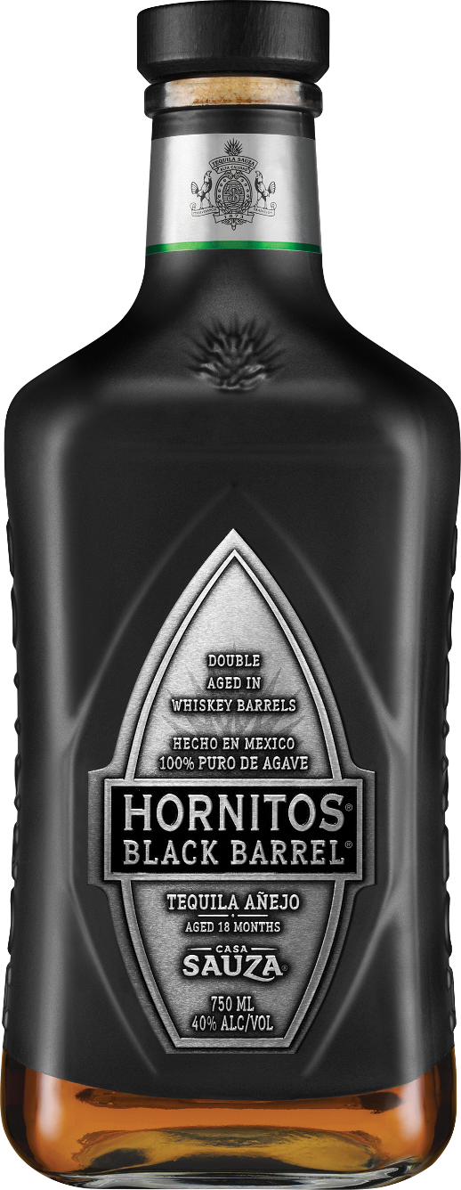 Hornitos Black Barrel Tequila Bottle