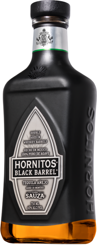 Hornitos Black Barrel Tequila Bottle