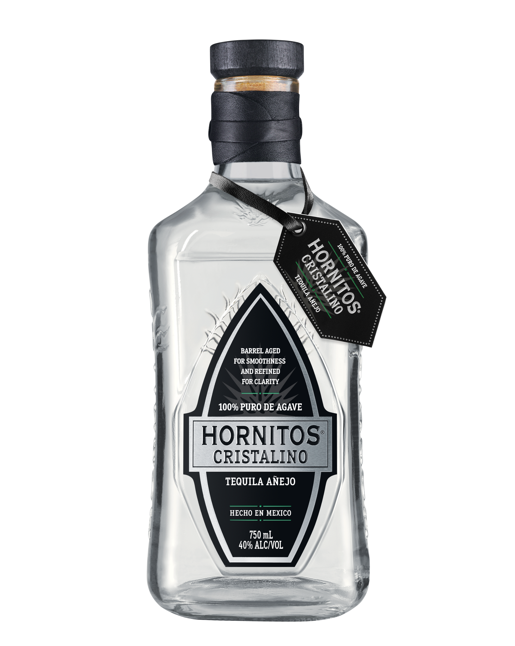 Hornitos Cristalino Tequila Bottle