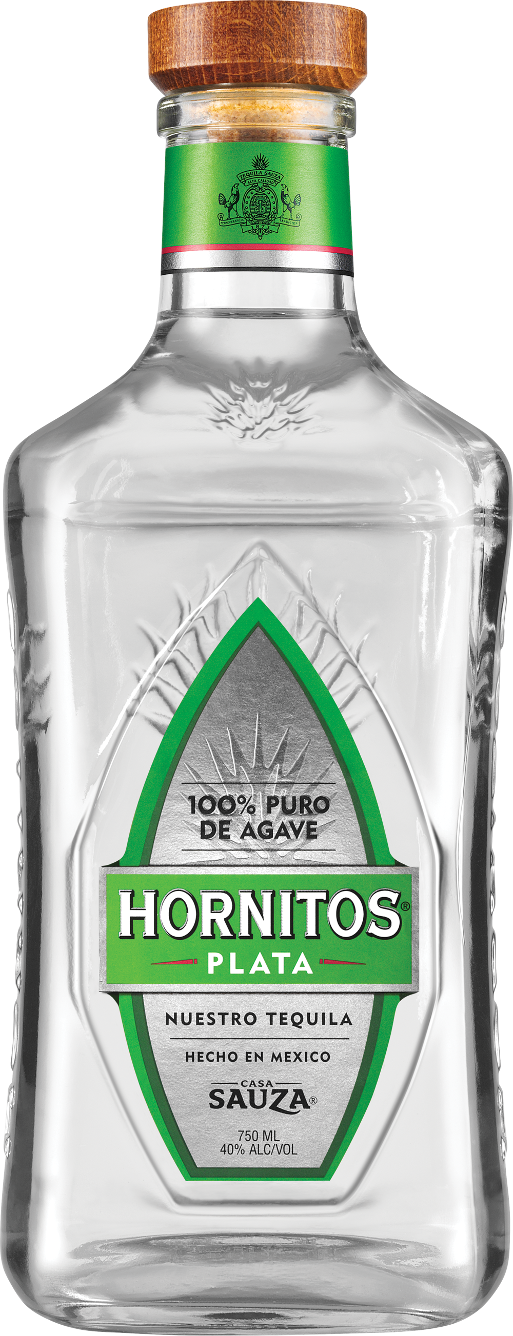 Hornitos Plata Tequila Bottle
